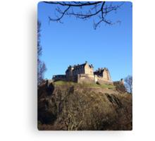 Edinburgh Castle from Princes Street.  Canvas Print