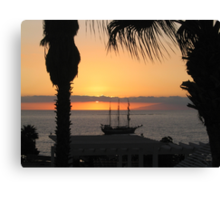 Sunsetting on the Tall Ship Canvas Print