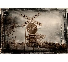 Vintage Country Railway Crossing Photographic Print
