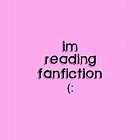 im reading fanfiction iPhone Case by ellieellieo