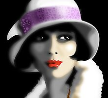 Girl's Twenties Vintage Glamour Portrait by BluedarkArt