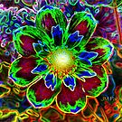 neon flower by Jose M  Pacheco