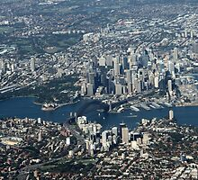 An aerial view of Sydney by jozi1