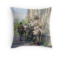 VE Day Re-enactment Throw Pillow