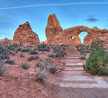 Early Morning Turret Arch 2 by activebeck2012