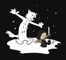 Jon and Ghost by ArchXAngel45