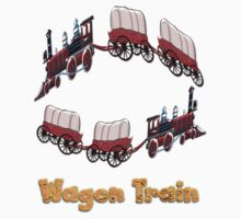 Settler's Wagon Train T-shirt by Dennis Melling