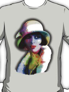 Girl's Twenties Vintage Glamour Art Portrait T-Shirt