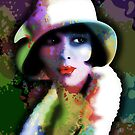 Girl&#x27;s Twenties Vintage Glamour Art Portrait by BluedarkArt
