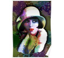 Girl's Twenties Vintage Glamour Art Portrait Poster