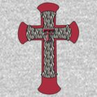 Cross with Texas Tech logo by Paul Lawrence