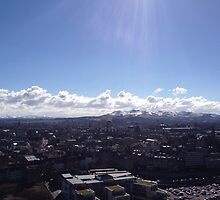 A view to the Pentland Hills from Calton Hill, Edinburgh #2 by LBMcNicoll