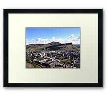 View from Calton Hill toward Arthur's Seat,  Edinburgh Framed Print