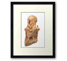 The Statue of The Unidentified Philosopher Framed Print