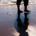Man walking on the sand by Jogreg