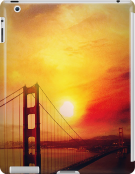SF under a burning sunset-ipad by angeldragon069