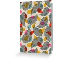 almost paisley, almost lace Greeting Card
