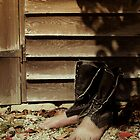 Les bottes de Monsieur Magritte by George Parapadakis (monocotylidono)