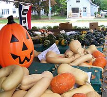 Fall Produce Farm Stand by Laurie Kutil