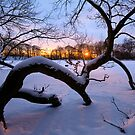 Sunset on the Ice by Keld Bach