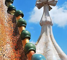 Roof of Gaudi House, Spain by Emily McAuliffe