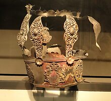 Torah Crown Burned in the Holocaust, Israel Museum, Jerusalem by Carol Singer