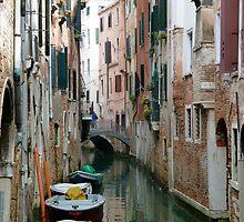 Venetian canal & boats by kejube