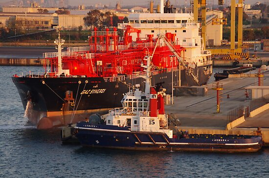 Busy Port - Brindisi - Italy by Francis Drake