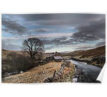 Winter on the moors. Poster