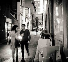 Hurrying into the night...by Becca Starr by Shot in the Heart of Melbourne, 2013