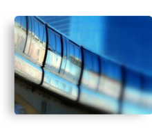 Tilt-Shift a MonoRail Blue Canvas Print