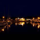 Rgen: Thiessow Harbour at Night by Kasia-D