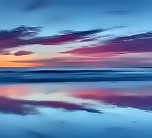 Purple Clouds on a Blue Sea by David Alexander Elder