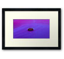 Purple crown water droplet Framed Print