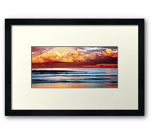 Stormy Evening Arriving Framed Print