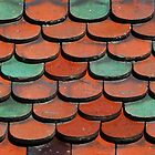 Teal and Tan Tiles by Javimage