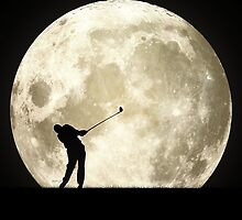 Golfing At Night by perkinsdesigns