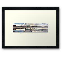 The still water from Kassasjön Framed Print