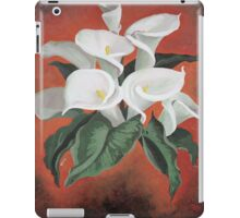 Calla Lilies On A Red Background iPad Case/Skin