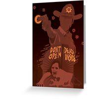 The Walking Dead Satirical Fan Art - Rick Greeting Card