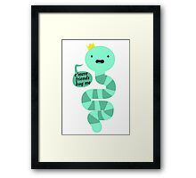 King Worm Framed Print