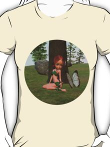 Forest Elf Girl and Butterfly T-Shirt