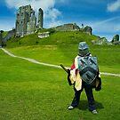Corfe Castle - little soldier by Sally Barnett
