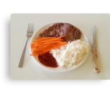 Steak With Spicy Sauce Canvas Print