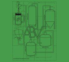 Alcohol By Volume Design (Black) T-Shirt