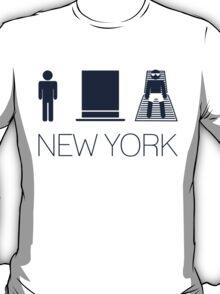 Man hat tan Tee - New York Yankee Blue Lettering T-Shirt