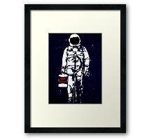 Badass Astronaut - Black visor Framed Print