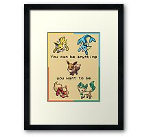 Eevee Motivational Poster - Dreamer! Framed Print