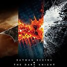 The Dark Knight Begins, Falls, Rises Poster by TLinehan