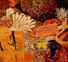 Colorful Reef Fish  by bohemianartist
